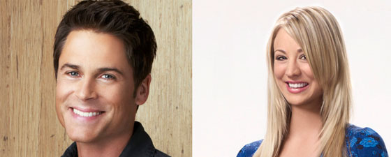 Rob Lowe y Kaley Cuoco